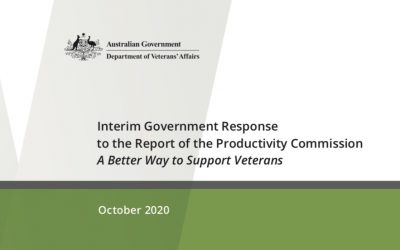 Productivity Commission Report – Interim Response