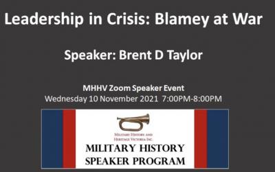 Event: 'Blamey At War' Online Presentation